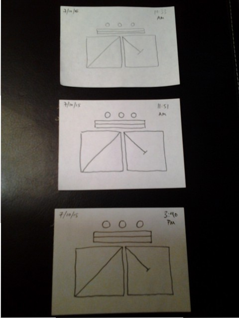 Memory testing with line drawings