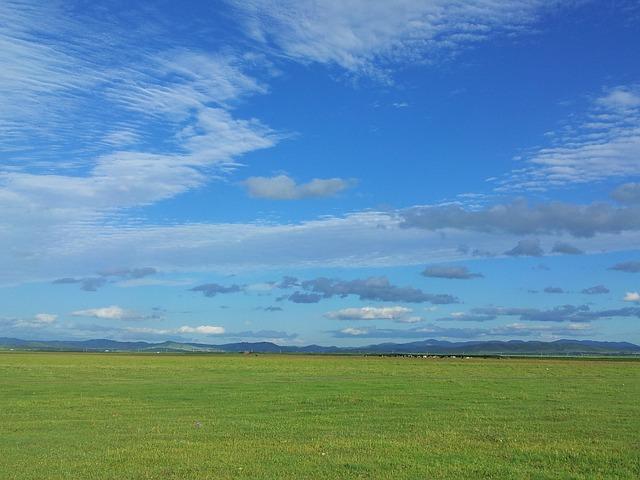 blue sky over the prairie