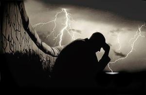 sadness-lightning-solitude-man