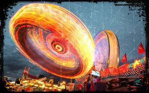 fairground ride spinning wildly