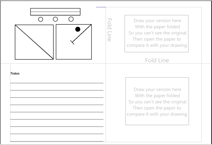 fold the paper twice, in directions, then use the blank spaces and also the notes