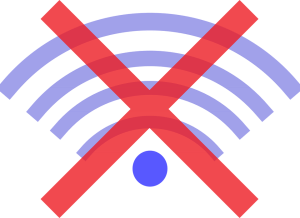 offline no wireless symbol