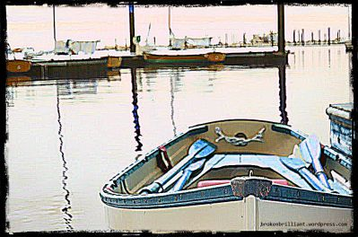 rowboat at docks